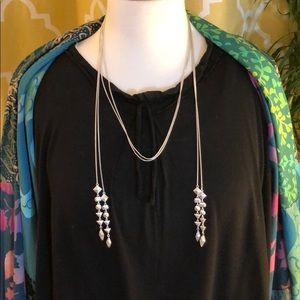 Stella & Dot Multi Strand Necklace - Silver
